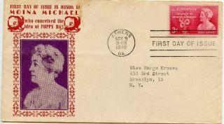 1948 Fdc,  Moina Michael photo