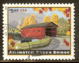 U.  S.  4738 $5.  60 Arlington Green Bridge Ng 2013 High Value Priority photo
