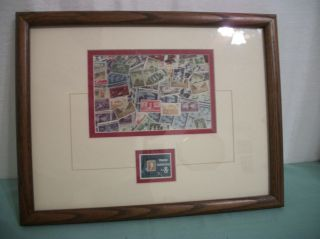 Framed 8 Cent Stamp Collecting,  Scot 1474 Postage Stamp,  Matted With Collage photo