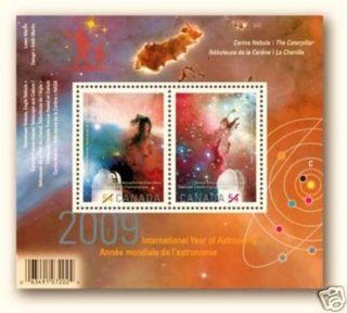 Canada 2009 Int.  Year Of Astronomy Souvenir Sheet Overprint (2323c) photo