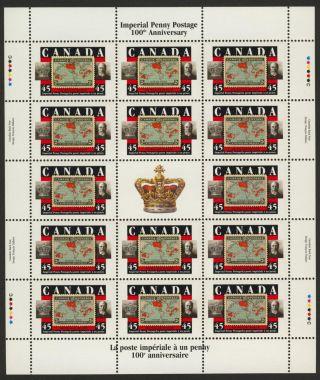 Canada 1722 Sheet Stamp On Stamp,  Sir William Mulock photo