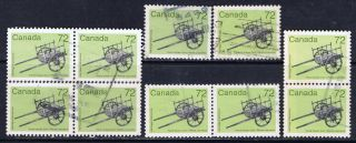 Canada 1083 (1) 1987 72 Cent Artifacts - Hand - Drawn Cart 10 Cv$5.  00 photo