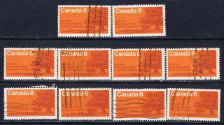 Canada 618 (7) 1973 8 Cent P.  E.  I.  Centennial Oak Trees On Shore 10 photo