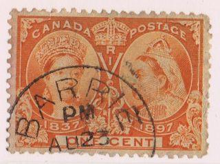 Canada 1897 Victoria Jubilee Issue 1c,  Scott 51,  Vf - U