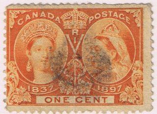 Canada 1897 Victoria Jubilee Issue 1c,  Scott 51,  F/vf - U,  Cv$ 5 photo