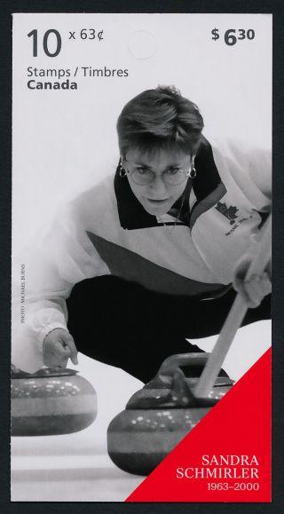 Canada 2706a Booklet Winter Olympics,  Sandra Schmirler photo