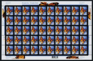 Canada Issue 22c Sheet Monarch Butterfly,  Insect photo
