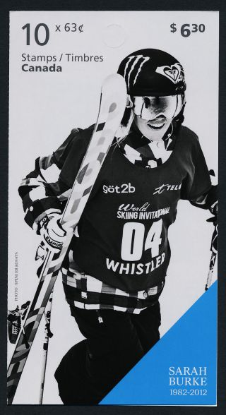 Canada 2707a Booklet Winter Olympics,  Sarah Burke photo