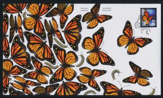 Canada Issue 22c On Fdc Monarch Butterfly,  Insect photo
