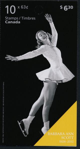 Canada 2705a Booklet Winter Olympics,  Barbara Ann Scott photo