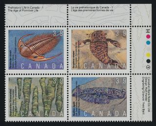 Canada 1282a Top Right Block Fossils photo