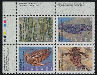 Canada 1282a Top Left Block Fossils photo