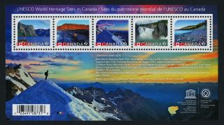 Canada Issue S/s Unseco World Heritage Sites photo