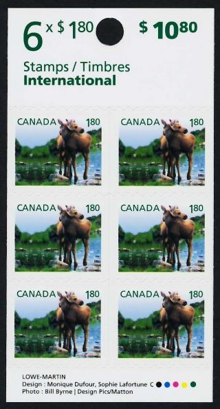 Canada 2512a Booklet Baby Animals,  Moose photo