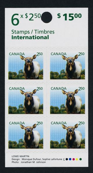 Canada Issue Booklet Wapiti,  Baby Animal photo