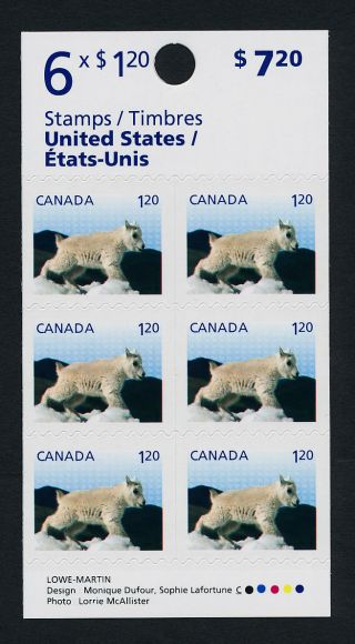 Canada Issue Booklet Mountain Goat,  Baby Animal photo