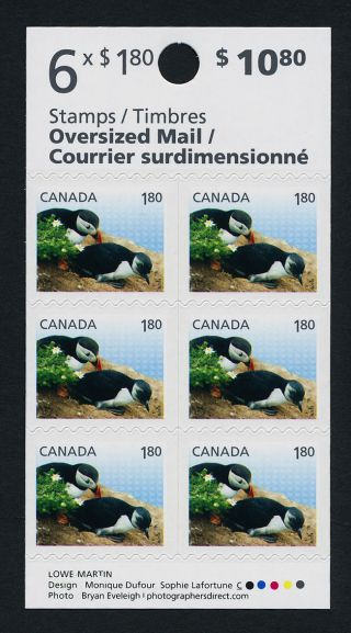 Canada Issue Booklet Atlantic Puffin,  Bird photo