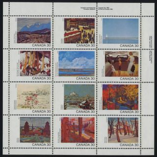 Canada 966a Top Right Plate Block Art,  Canada Day photo