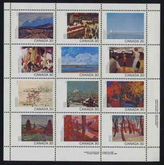 Canada 966a Bottom Right Plate Block Art,  Canada Day photo