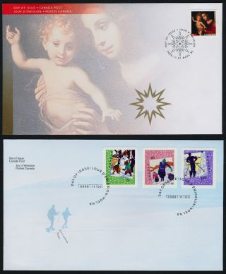 Canada 2183 - 6 Fdc ' S Christmas,  Madonna & Child,  Snowman photo
