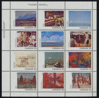 Canada 966a Top Left Plate Block Art,  Canada Day photo