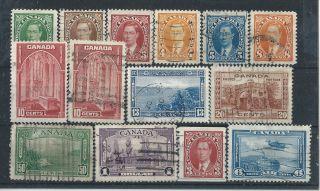 Canada.  1937/38. .  Cat.  £48.  35 (3032) photo