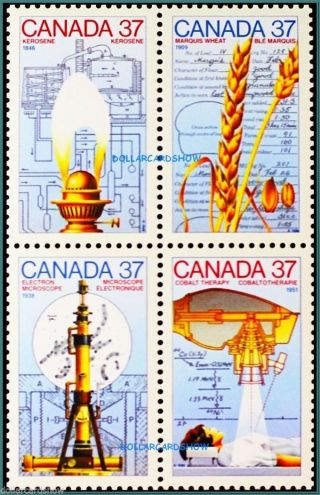 Canada 1988 Canadian Science Medicine Technology Face $1.  48 Stamp Block photo