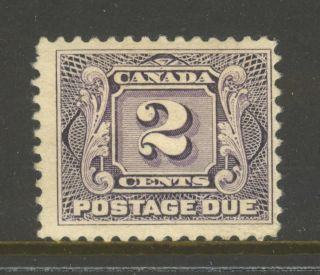 Canada J2,  1906 2c Postage Due - First Postage Due Series,  Hinge Remnant photo