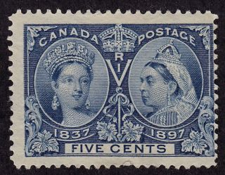 Canada Scott 54 Stamp - No Gum - Old Classic Queens photo