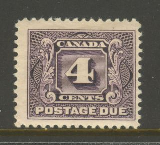 Canada J3,  1928 4c Postage Due - First Postage Due Series,  Hinge Remnant photo