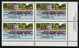 Canada 968 Br Plate Royal Canadian Henley Regatta photo