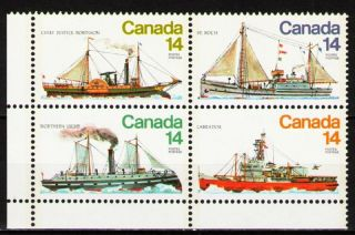 Canada 1978 Sc779a Mi711 - 14 4.  00 Mieu 1 Block Ships photo