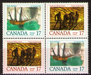 Canada 1979 Sc818a Mi727 - 28 3.  20 Mieu 1block F.  P.  Grove And E.  Neligan photo