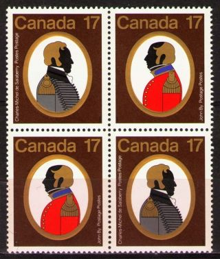 Canada 1979 Sc820a Mi729 - 30 3.  20 Mieu 1 Block Canadian Colonels. photo