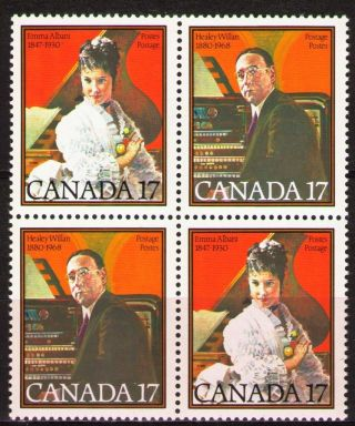 Canada 1980 Sc861a Mi771 - 72 2.  80 Mieu 1 Block Musicians photo