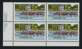 Canada 968 Bl Plate Royal Canadian Henley Regatta photo
