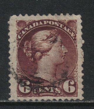 Canada 1888 - 93 Queen Victoria 6c Chocolate (43a) photo