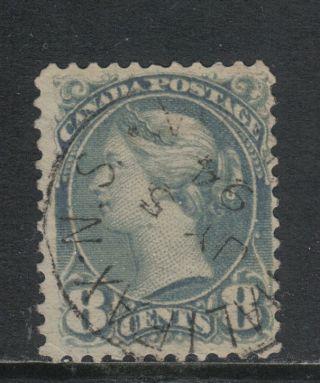 Canada 1888 - 93 Queen Victoria 8c Gray (44c) photo