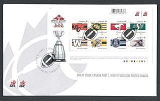 Canada 2012 Cfl Football Teams Ms Fdc photo