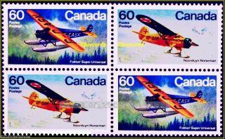 Canada 1982 Canadian Norseman Universal Plane Face $2.  40 Stamp Block photo