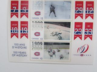 Canada 2009 Nhl Hockey Montreal Canadiens 3d S/s Never Hinged photo