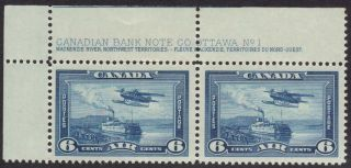 Canada - Scott C6 - Plate No.  1 Pair - Og photo