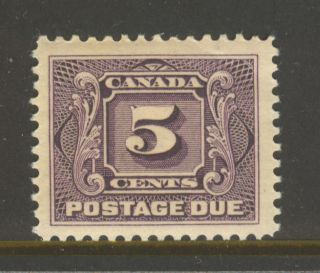 Canada J4,  1906 5c Postage Due - First Postage Due Series,  Hinged photo