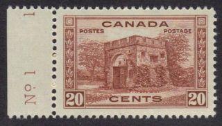 Canada - Scott 243 - Vf Og - Plate No.  1 Single photo