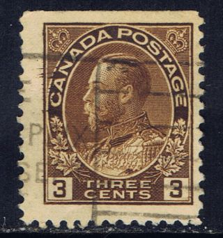 Canada 108as (11) 1918 3 Cent Brown George V Booklet Single Cv$15.  00 photo