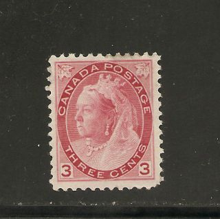 Queen Victoria Numeral Issue 3 Cents Carmine 78 Nh photo