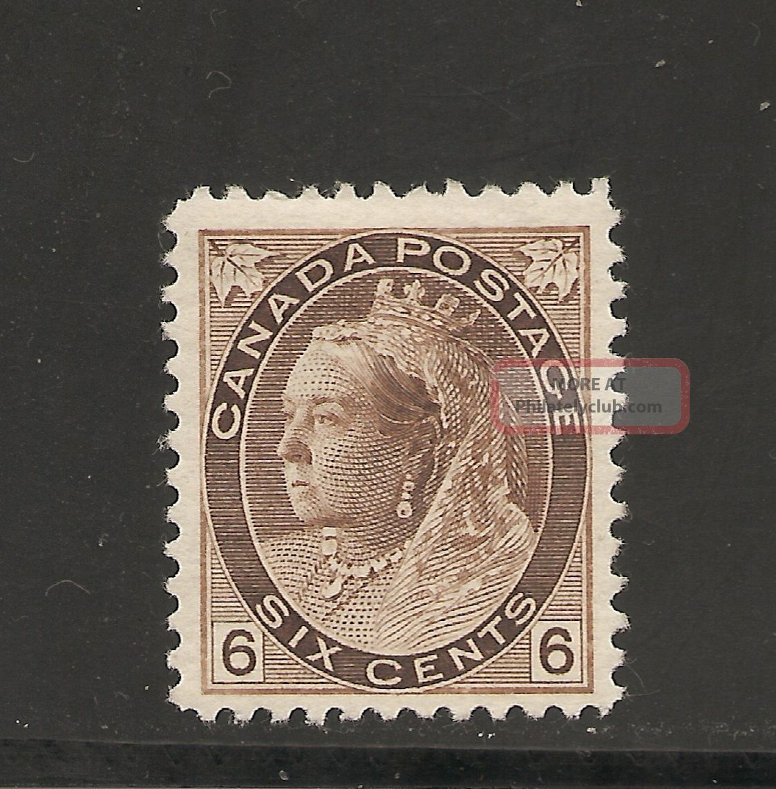 Queen Victoria Numeral Issue Six Cents 80 Mh Canada photo
