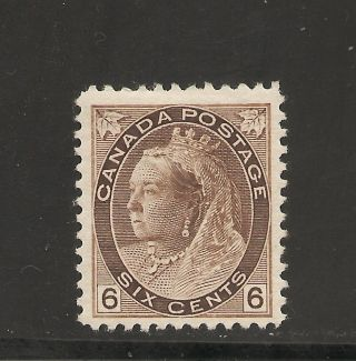 Queen Victoria Numeral Issue Six Cents 80 Mh photo