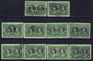 Canada 246 (1) 1 Cent Green & Black Hrh Elizabeth & Margaret 10 photo