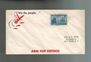 1942 Canada Newfoundland Patriotic Ww 2 Cover Usa We The People Arm For Defense photo
